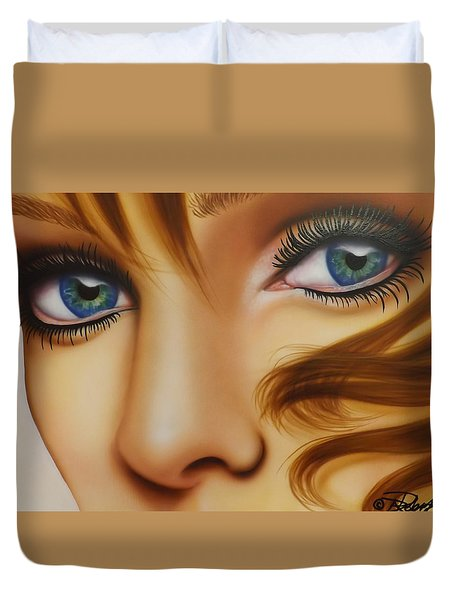 Window To The Soul Duvet Cover by Darren Robinson