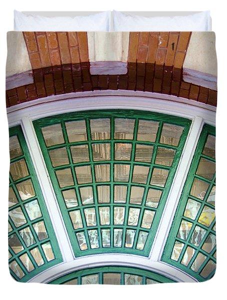 Windows Of Ybor Duvet Cover by Carolyn Marshall