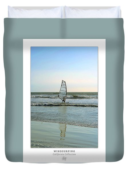 Windsurfing Art Poster - California Collection Duvet Cover by Ben and Raisa Gertsberg