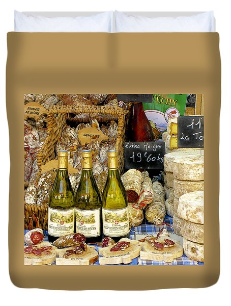 Wine and Cheese Duvet Cover by Douglas J Fisher