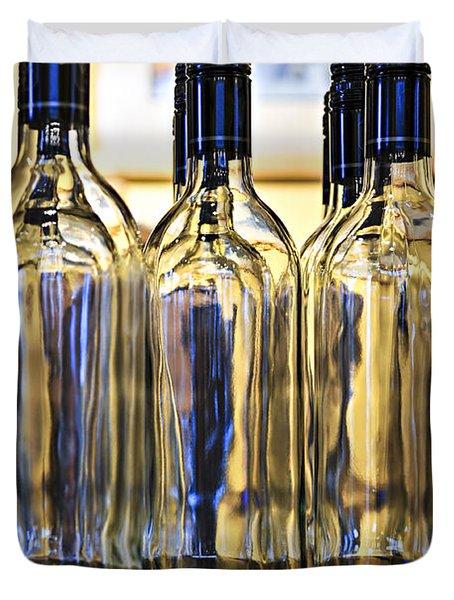 Wine bottles Duvet Cover by Elena Elisseeva