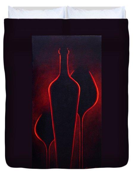 Wine Glow Duvet Cover by Sandi Whetzel