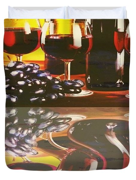 WINE REFLECTIONS Duvet Cover by PainterArtist FIN