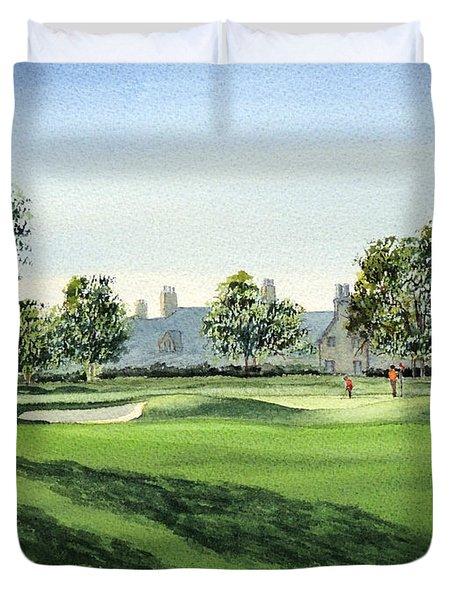 Winged Foot West 18Th Hole Duvet Cover by Bill Holkham