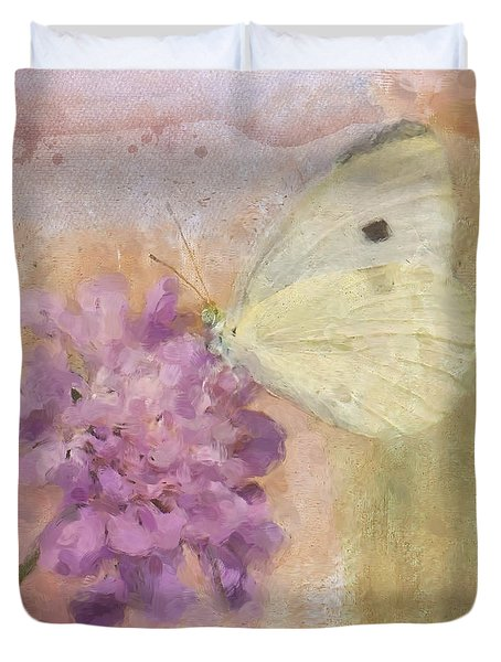 Wings Of Beauty Duvet Cover by Betty LaRue