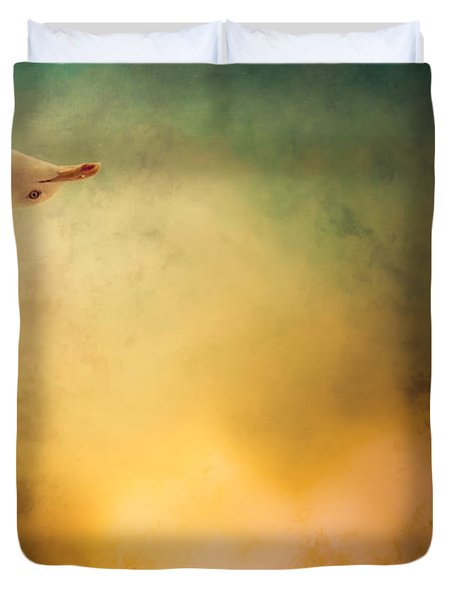 Wings of Freedom Duvet Cover by Loriental Photography