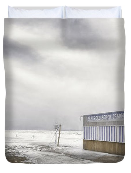 Winter At The Cabana Duvet Cover by Scott Norris
