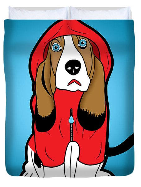 Winter Dog  Duvet Cover by Mark Ashkenazi