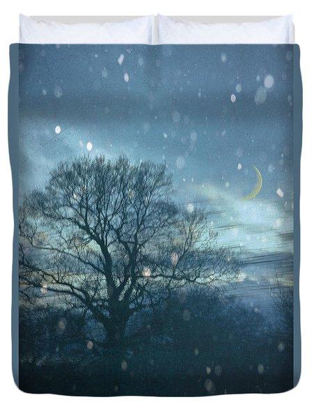 Winter Evening Duvet Cover by Jan Bickerton