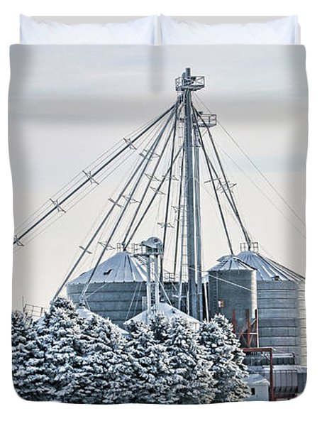 Winter Farm  7365 Duvet Cover by Jack Schultz