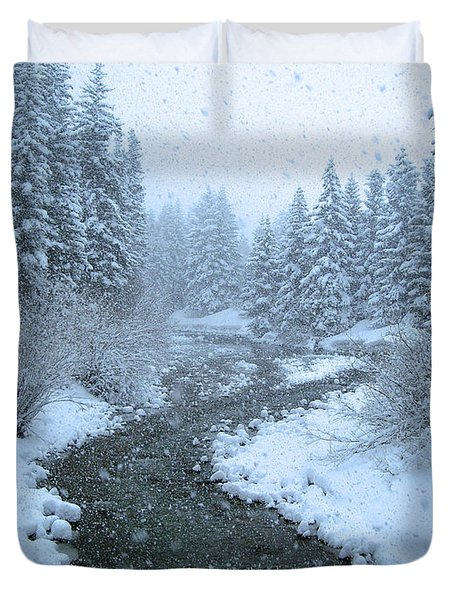 Winter Forest Duvet Cover by David Rucker