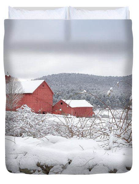 Winter In Connecticut Duvet Cover by Bill Wakeley