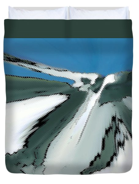 Winter In The Mountains Duvet Cover by Ben and Raisa Gertsberg