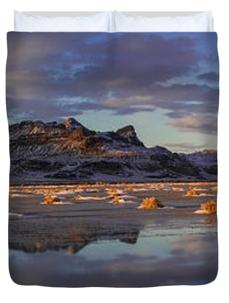 Winter In The Salt Flats Duvet Cover by Chad Dutson
