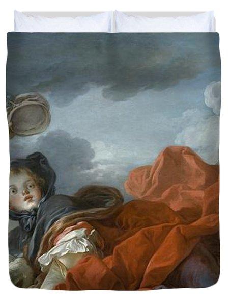 Winter Duvet Cover by Jean Honore Fragonard