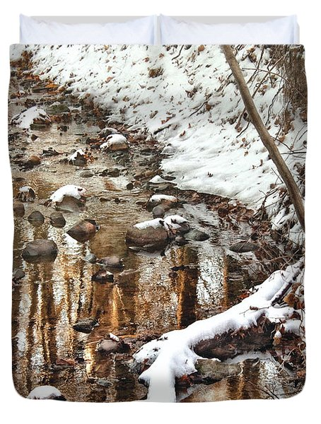 Winter - Natures Harmony Duvet Cover by Mike Savad