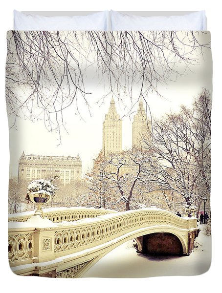Winter - New York City - Central Park Duvet Cover by Vivienne Gucwa