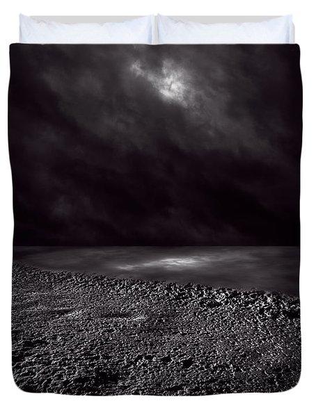 Winter Nightscape Duvet Cover by Bob Orsillo