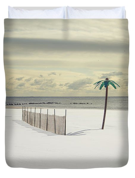 Winter Paradise Duvet Cover by Evelina Kremsdorf
