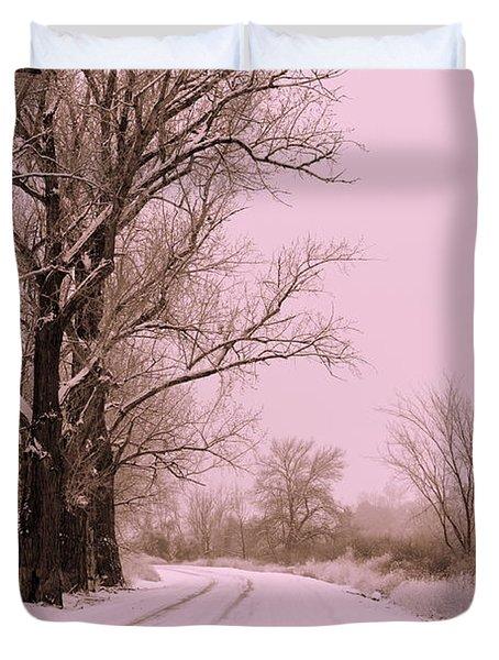 Winter Pink Duvet Cover by Carol Groenen
