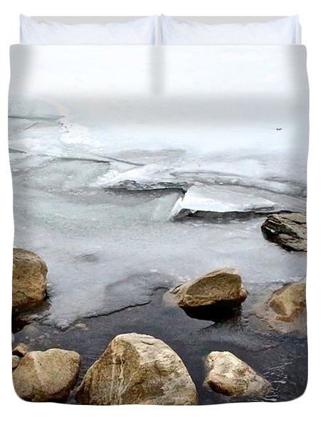 Winter Quabbin Duvet Cover by Randi Shenkman