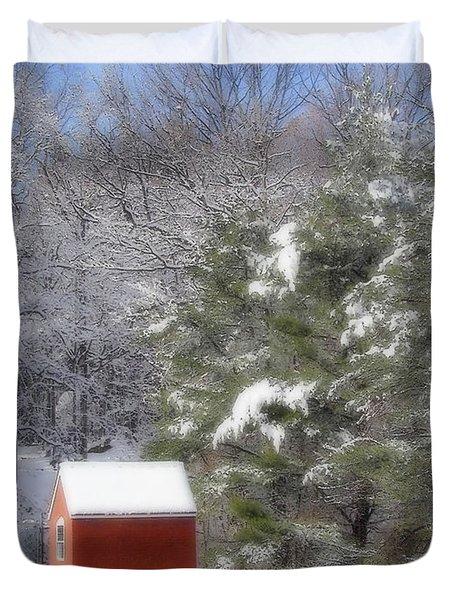 Winter Scene  Duvet Cover by Karol Livote