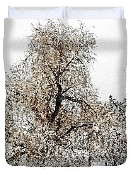 Winter Scene Duvet Cover by Kathleen Struckle