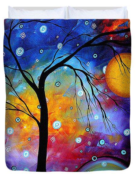 WINTER SPARKLE Original MADART Painting Duvet Cover by Megan Duncanson
