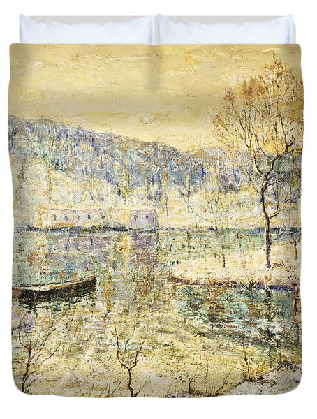 Winter Stream Duvet Cover by Ernest Lawson