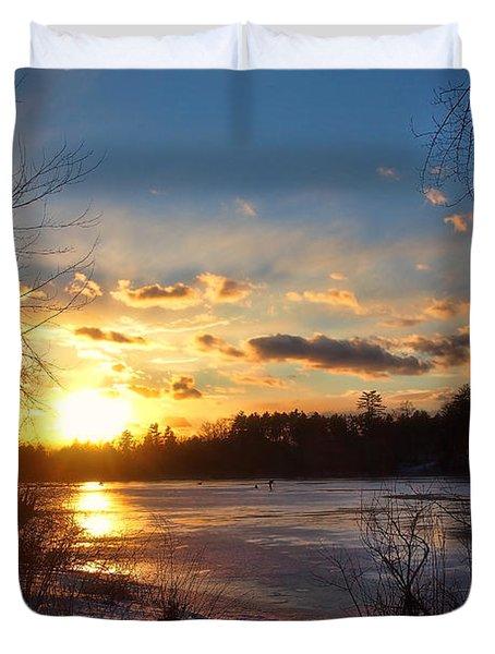 Winter Sundown Duvet Cover by Joann Vitali