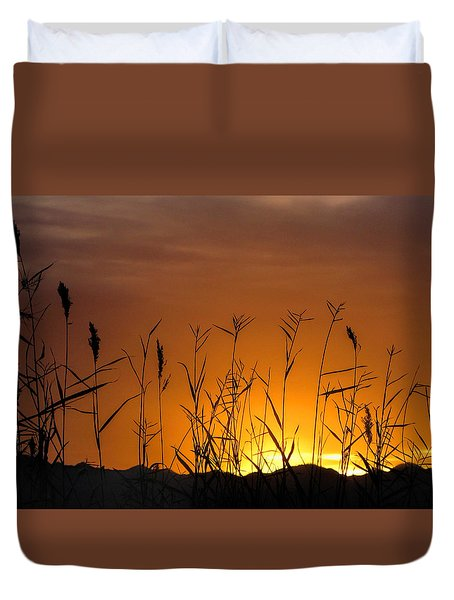 Winter Sunrise Duvet Cover by Tammy Espino