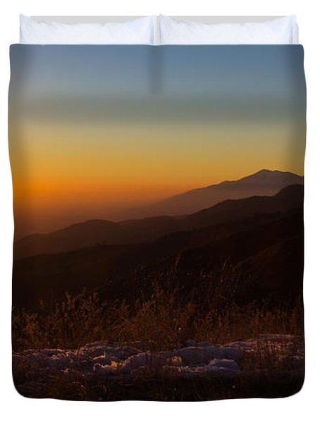 Winter Sunset Duvet Cover by Heidi Smith