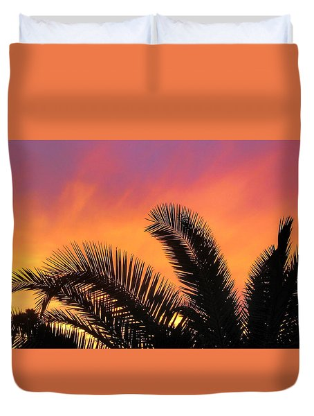 Winter Sunset Duvet Cover by Tammy Espino