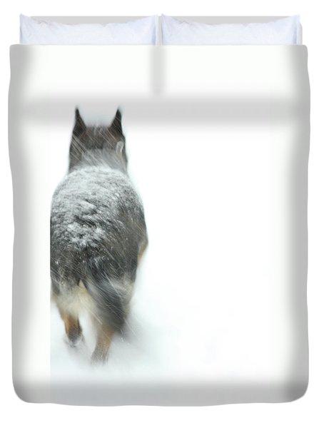 Winter Traveler Duvet Cover by Karol  Livote