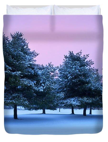 Winter Trees Duvet Cover by Brian Jannsen