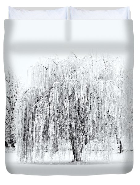 Winter Willow Duvet Cover by Mike  Dawson