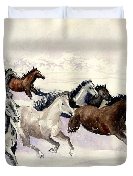 Winter Wishperer Duvet Cover by Melly Terpening