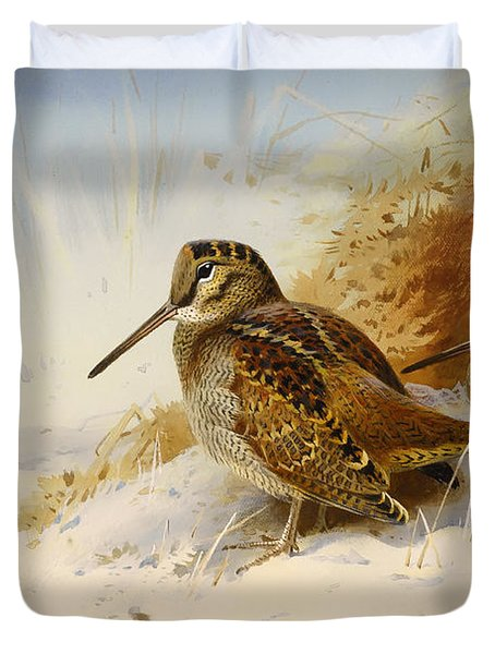 Winter Woodcock Duvet Cover by Mountain Dreams