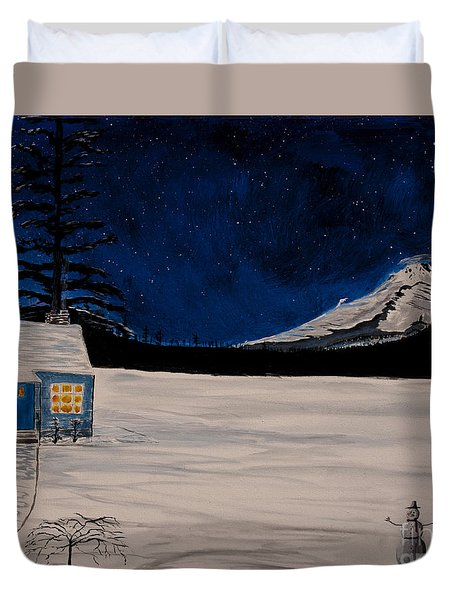 Winter's Eve Duvet Cover by Ian Donley