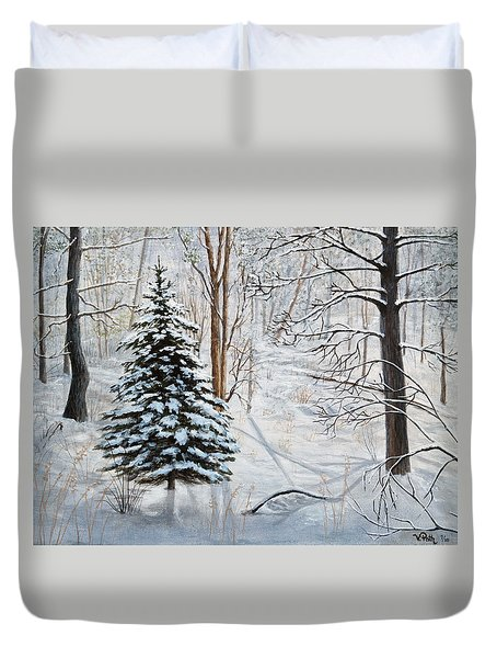 Winter's Peace Duvet Cover by Vicky Path