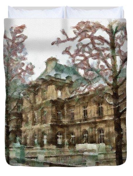 Wintertime Sadness Duvet Cover by Ayse Deniz