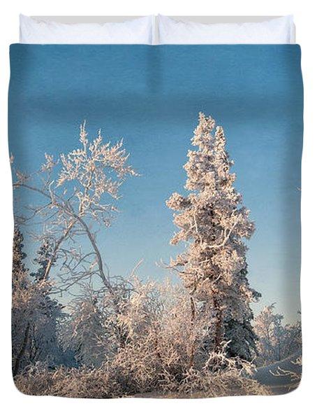 Wintery Duvet Cover by Priska Wettstein