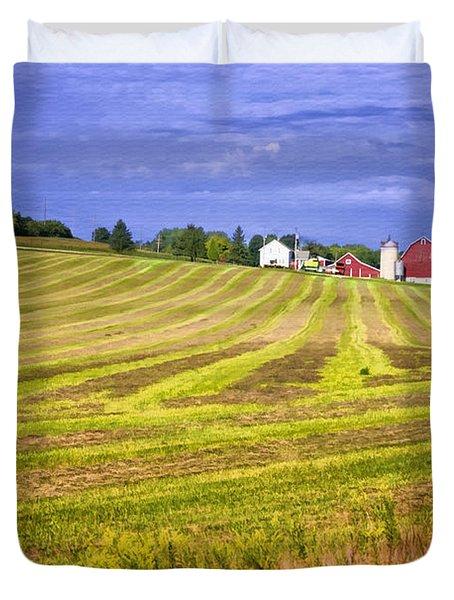 Wisconsin Dawn Duvet Cover by Joan Carroll
