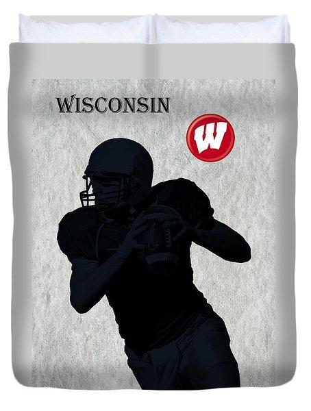 Wisconsin Football Duvet Cover by David Dehner