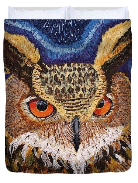 Wisdom Duvet Cover by Vicki Maheu