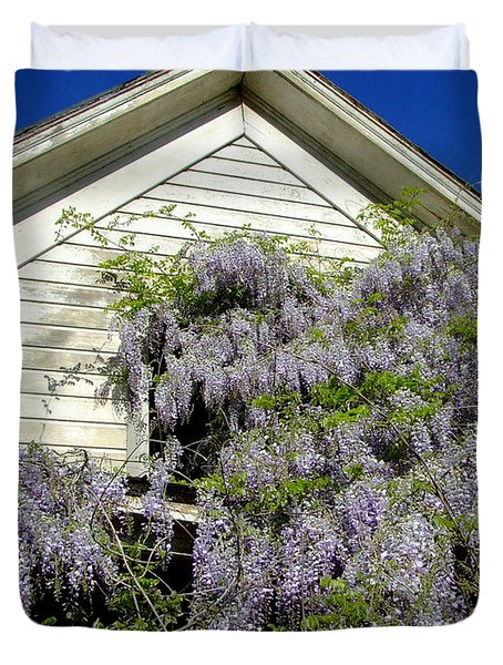 Wisteria Cascading Duvet Cover by Everett Bowers