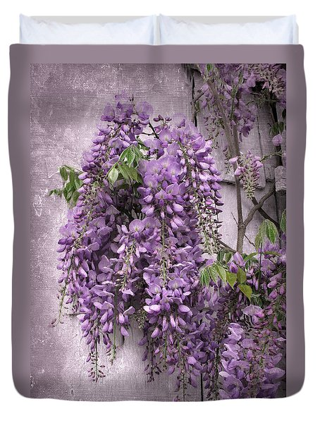 Wistful Wisteria Duvet Cover by Jessica Jenney