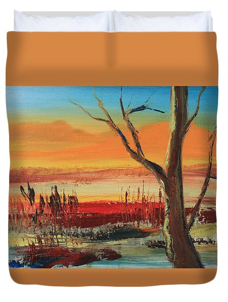 Withered Tree Duvet Cover by Remegio Onia