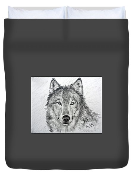 Wolf Duvet Cover by Julie Brugh Riffey