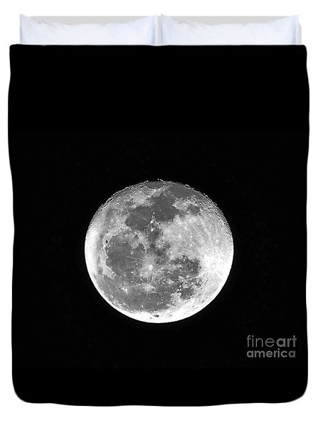 Wolf Moon Waning Duvet Cover by Al Powell Photography USA